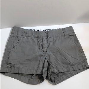 J. Crew Factory Grey Chino shorts size 2